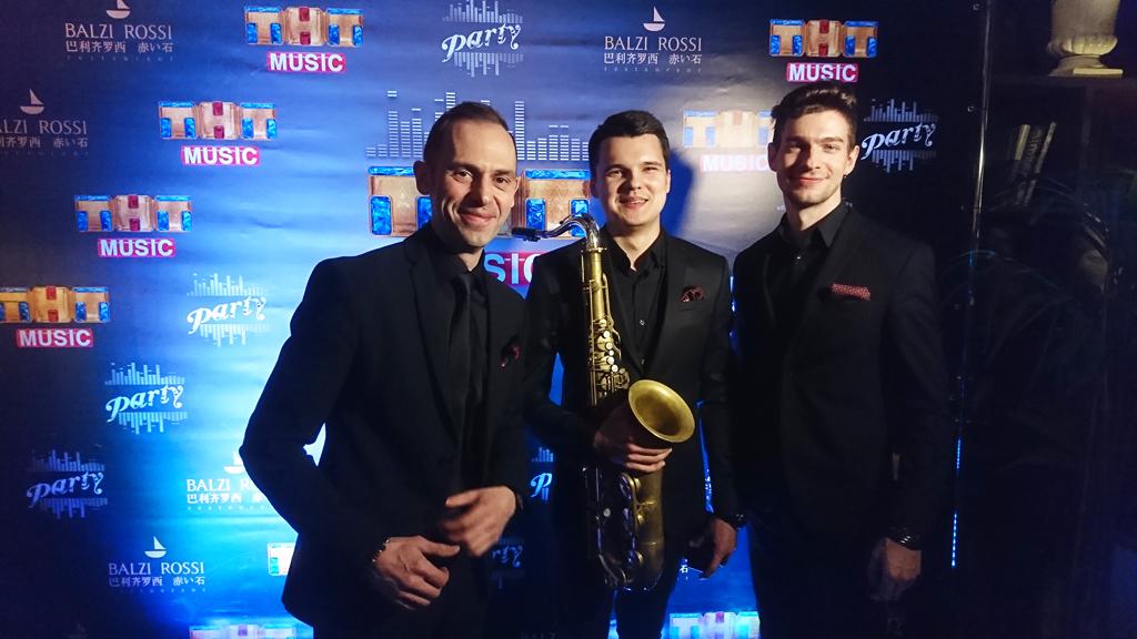 Джаз группа джазовые музыканты на концерте канала ТНТ