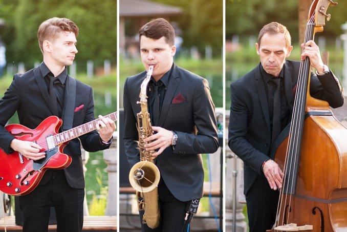 Джаз группа выступает на торжественном мероприятии