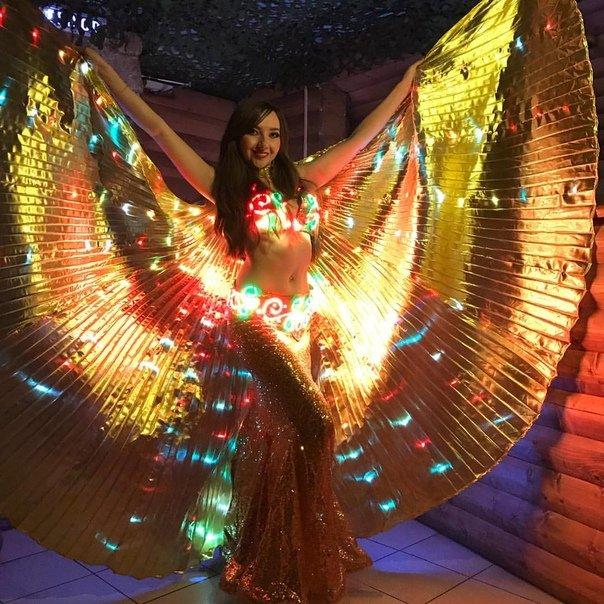 Золотые крылья с режимами мерцания