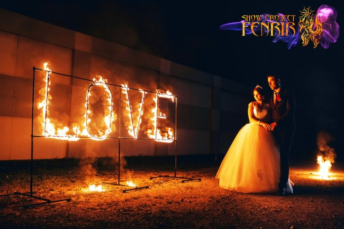 Огненная надпись FenrirShow