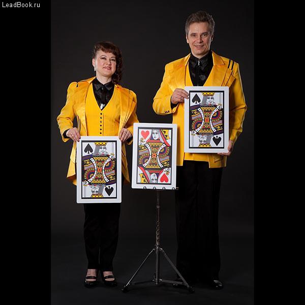 Иллюзионный дуэт «ШИК» — фокусники иллюзионисты Ольга и Владимир Курзямовы.
