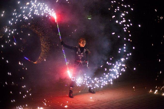 Огненное фаер шоу Flagro в Ростове