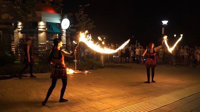 Огненые скакалки