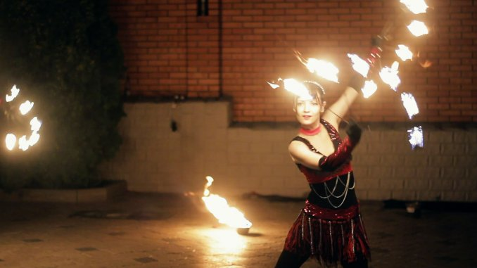 Огненное фаер шоу в Ростове