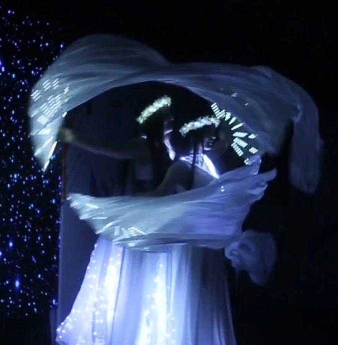 Световое шоу в Ростове