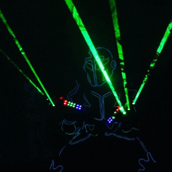 световое шоу с лазерами