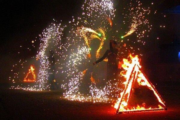 Пирофинал+огненные пирамиды