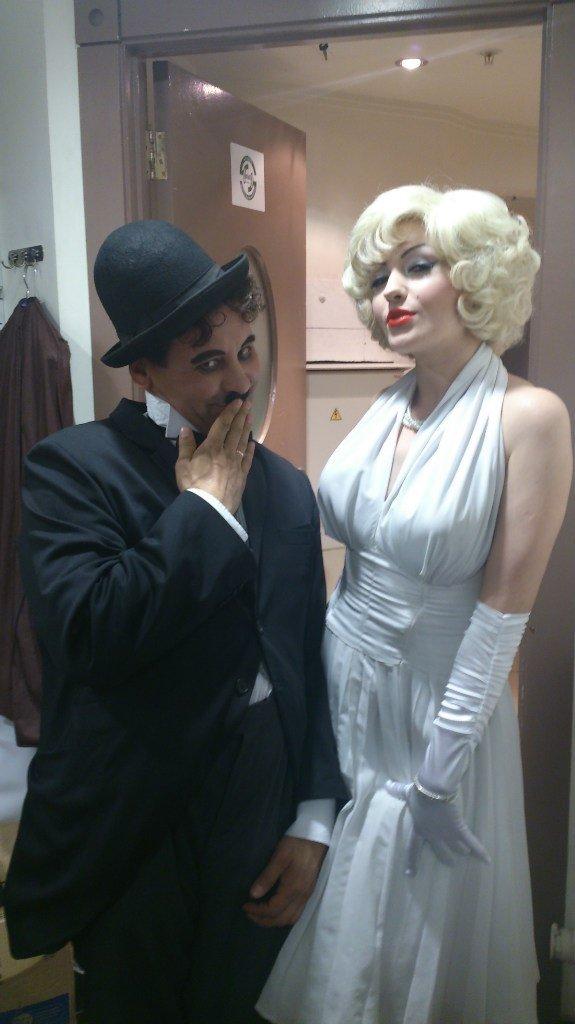 Чарли Чаплин и Мэрилин Монро