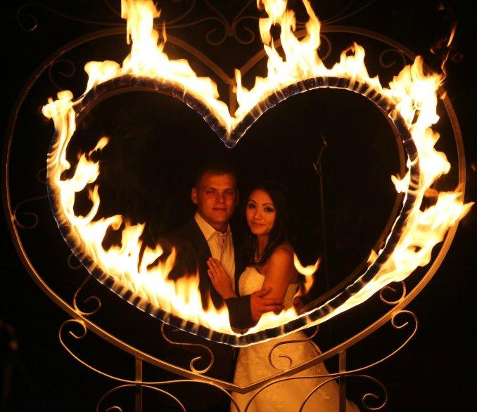 Кованое огненное сердце