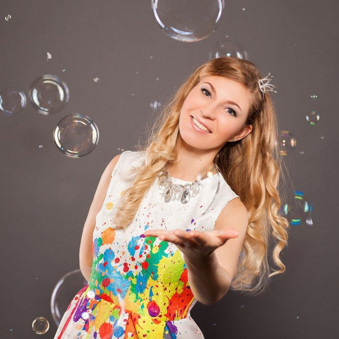 Шоу мыльных пузырей Александры Марти