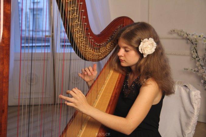 Арфистка на мероприятие + дуэт с флейтой