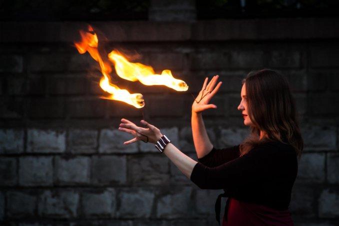 Огненное фаер шоу SamFire в Самаре