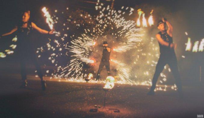 Огненное пиротехническое шоу Прия