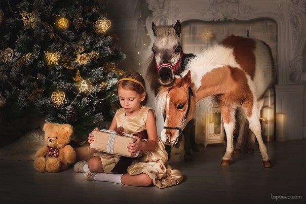 Horse Major. Шоу с животными- миниатюрные лошади и козлик