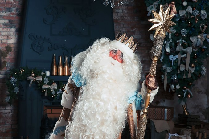 GOLDEN Santa Claus and Snow Maiden