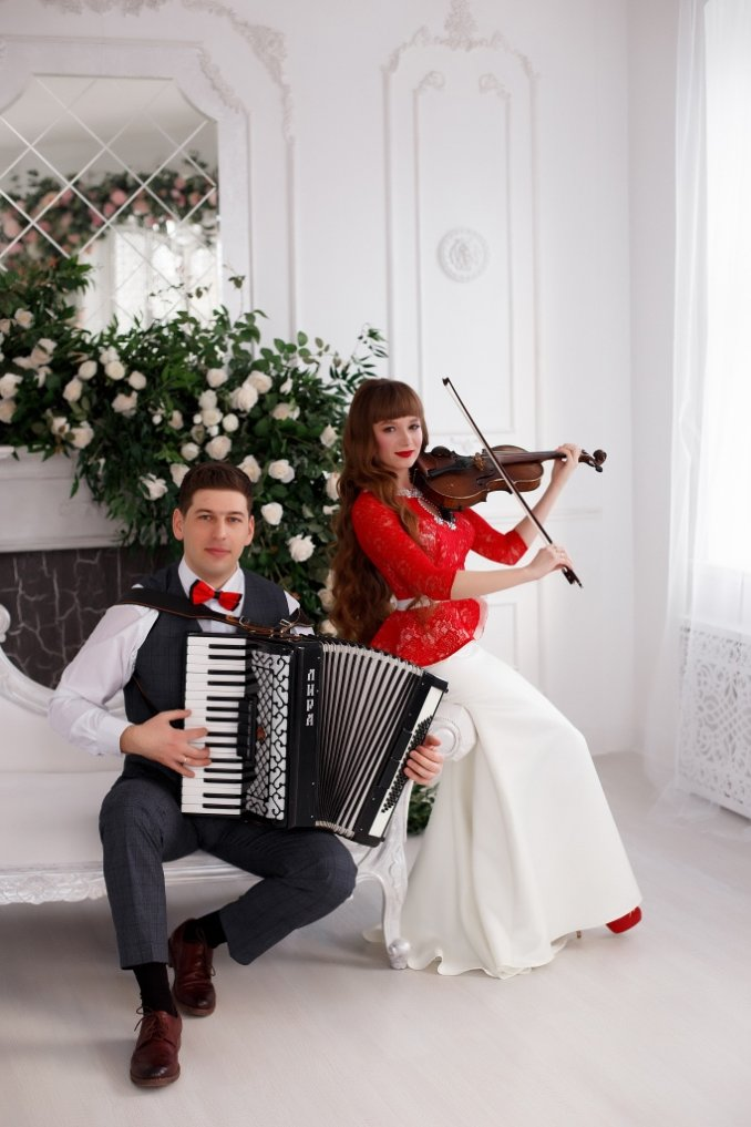 Скрипка + Аккордеон *Музыканты на праздник Томск *Иван и Екатерина Гейль