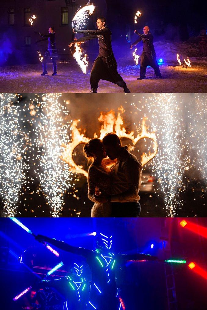 Огненное и световое шоу KRYPTOS